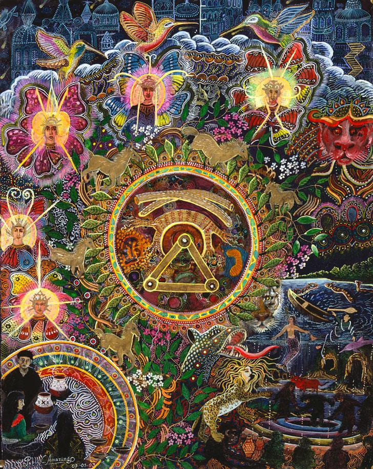 Chacruna Versucum 2007 version by Pablo Amaringo